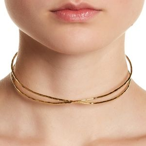 NEW! Gorjana Elea 18k Gold Plated Collar Necklace